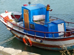 Fishing boat docked in Puerto de Santa Maria