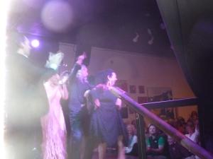 Concha Vargas, Luis de La Tota, Kina Mendez and Javier Heredia at La Peña in Berkley, CA SF Festival Flamenco Gitano 2013